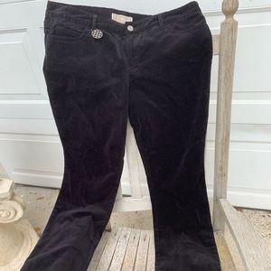 Michael Kors Black Velvet jeans NWT 10